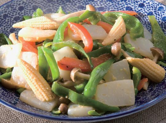 こんにゃくと彩り野菜の炒め物